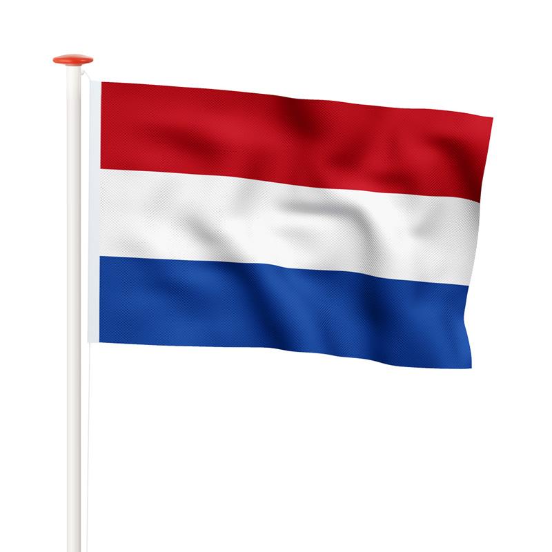 Nederlandse vlag standaard blauw
