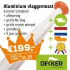 Actie: aluminium vlaggenmast Ø 60mm met grondbuis