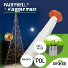 Polyester vlaggenmast 8 meter met Fairybell 1500 leds