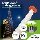 Fairybell 8 meter met polyester vlaggenmast voorverkoop actie!
