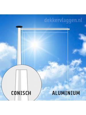 Aluminium baniermast 9 meter conisch