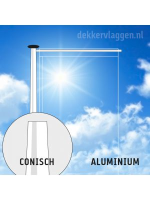 Aluminium baniermast 10 of 12 meter conisch