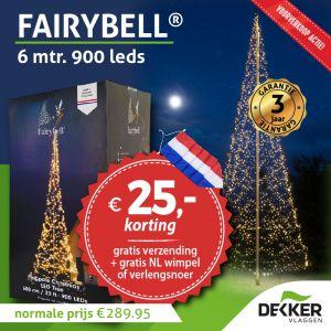 Fairybell 6 meter 900 Led warm white voorverkoop: 25 euro en gratis wimpel of verlengsnoer!!