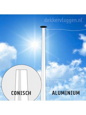 Aluminium vlaggenmast 6 of 7 meter conisch