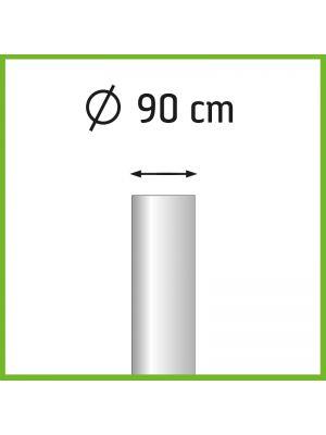 Aanbieding set van 3 aluminium baniermasten 6m Ø90mm met overschuifkoker