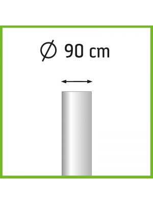 Aanbieding set van 3 aluminium baniermasten 8m Ø90mm met kantelanker