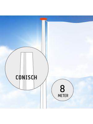 Aluminium vlaggenmast 8 meter conisch
