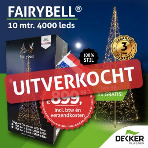 Fairybell 10 meter 4000 Led warm white - met gratis wimpel